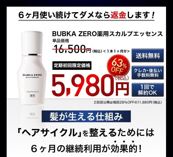 BUBKA ZERO(ブブカゼロ)育毛剤の最安値は? bubka,育毛剤,公式
